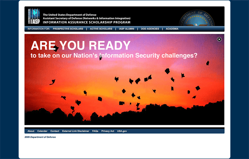 Information Assurance Scholarship Program Website