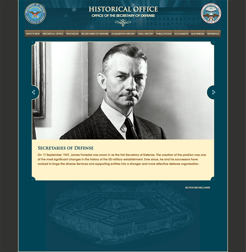 Historical Office of the Secretary of Defense Website