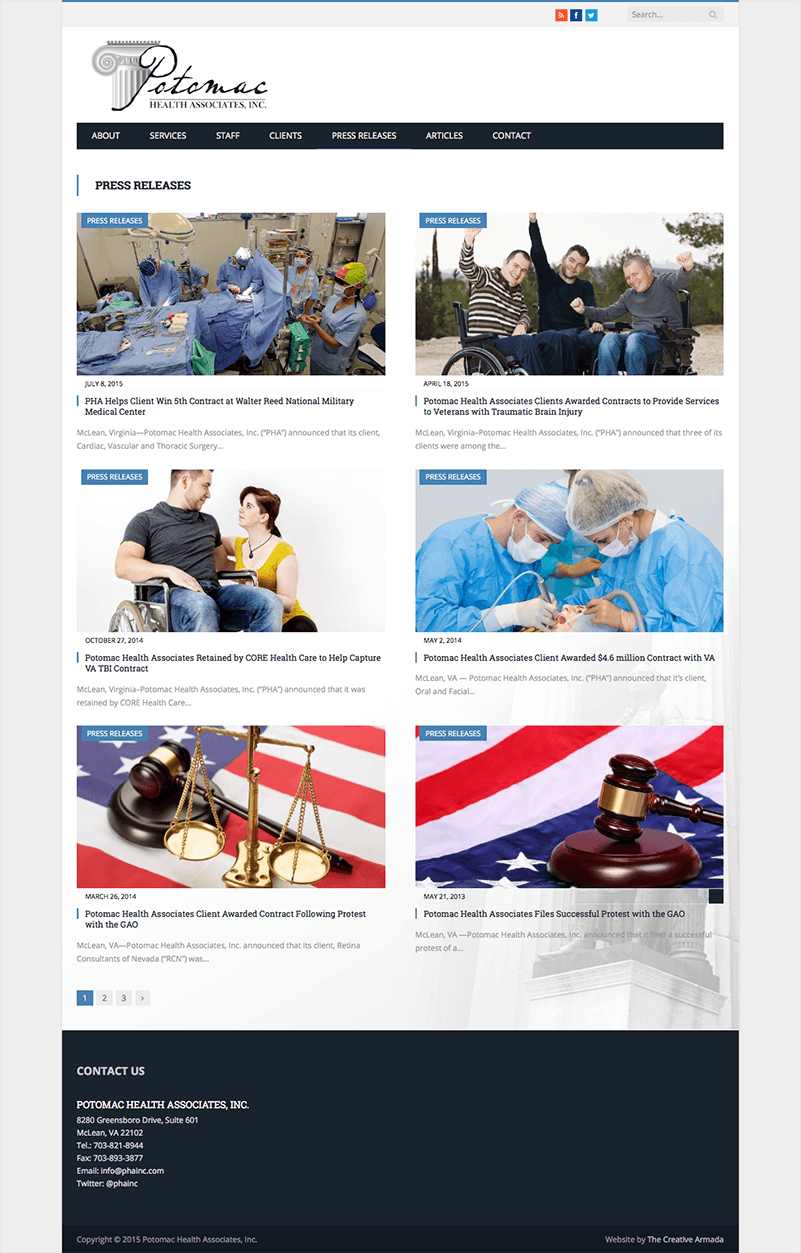 Potomac Health Associates Website